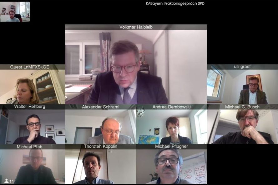 Videokonferenz mit der SPD-Fraktion – aktueller Austausch